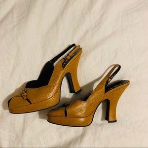 PRADA slingback chunky heels